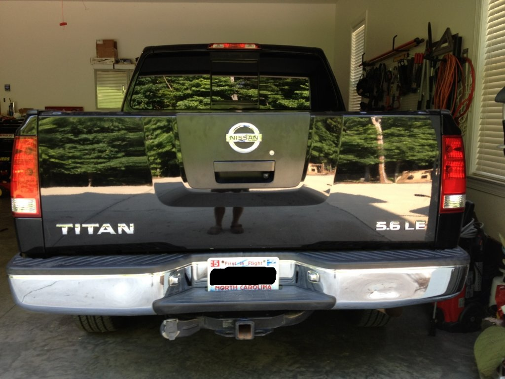 My Tailgate Backup Camera Install Nissan Titan Forum 2011 Trailer Wiring Here Is The Green White Reverse Signal Wite To Run Your Head Unit Or You Could Also Use It As A Power Wire Depending On What Choose